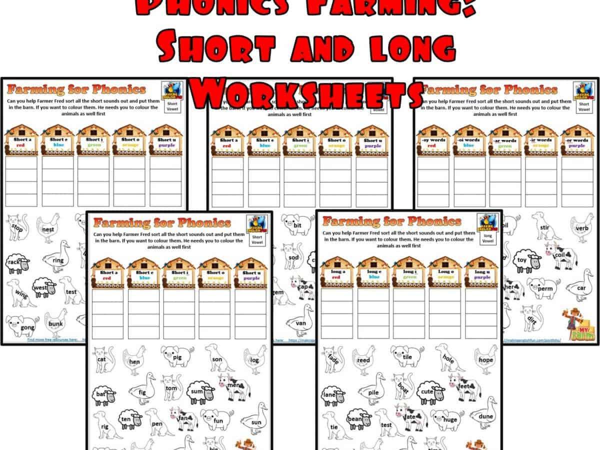 Farming for Vowels Phonics worksheet